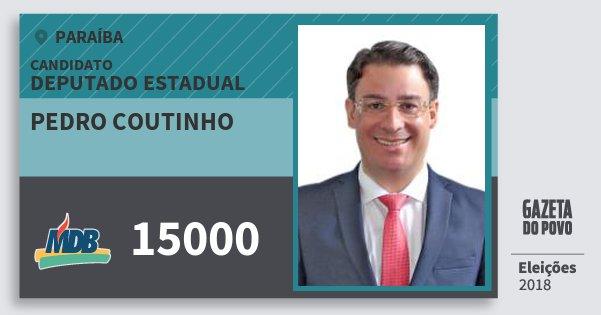 Santinho Pedro Coutinho 15000 (MDB) Deputado Estadual | Paraíba | Eleições 2018