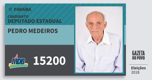 Santinho Pedro Medeiros 15200 (MDB) Deputado Estadual | Paraíba | Eleições 2018