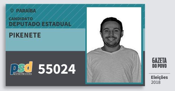 Santinho Pikenete 55024 (PSD) Deputado Estadual | Paraíba | Eleições 2018