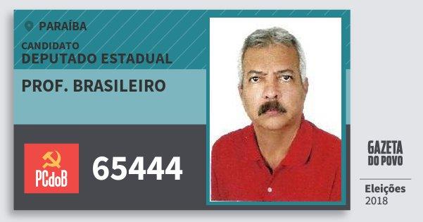 Santinho Prof. Brasileiro 65444 (PC do B) Deputado Estadual | Paraíba | Eleições 2018