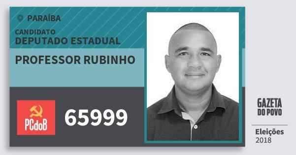 Santinho Professor Rubinho 65999 (PC do B) Deputado Estadual | Paraíba | Eleições 2018
