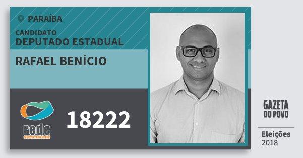 Santinho Rafael Benício 18222 (REDE) Deputado Estadual | Paraíba | Eleições 2018