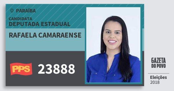 Santinho Rafaela Camaraense 23888 (PPS) Deputada Estadual | Paraíba | Eleições 2018