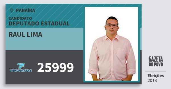 Santinho Raul Lima 25999 (DEM) Deputado Estadual | Paraíba | Eleições 2018