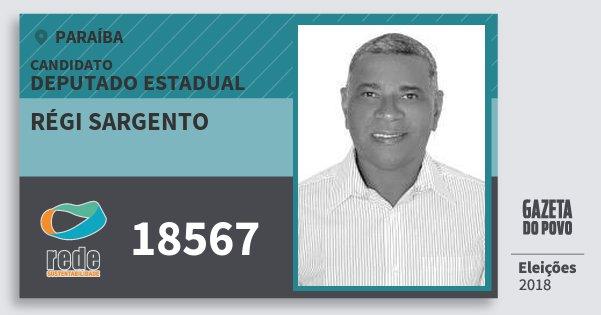 Santinho Régi Sargento 18567 (REDE) Deputado Estadual | Paraíba | Eleições 2018