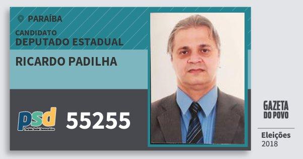 Santinho Ricardo Padilha 55255 (PSD) Deputado Estadual | Paraíba | Eleições 2018