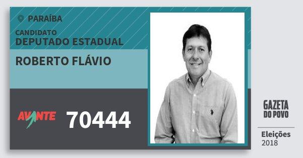 Santinho Roberto Flávio 70444 (AVANTE) Deputado Estadual | Paraíba | Eleições 2018