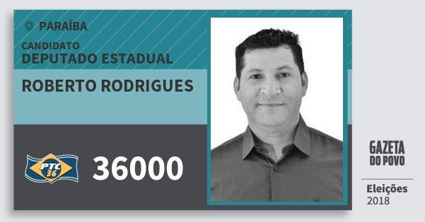 Santinho Roberto Rodrigues 36000 (PTC) Deputado Estadual | Paraíba | Eleições 2018