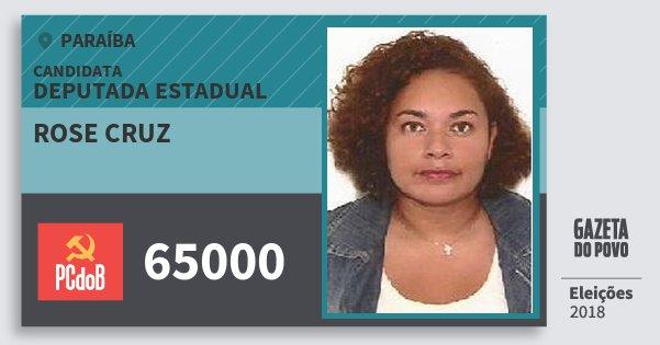 Santinho Rose Cruz 65000 (PC do B) Deputada Estadual | Paraíba | Eleições 2018