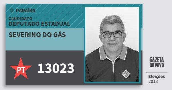Santinho Severino do Gás 13023 (PT) Deputado Estadual | Paraíba | Eleições 2018