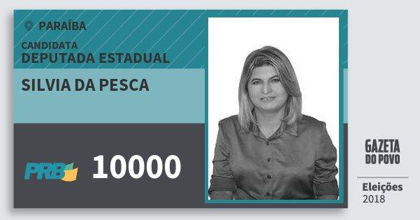 Santinho Silvia da Pesca 10000 (PRB) Deputada Estadual | Paraíba | Eleições 2018