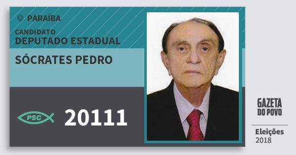Santinho Sócrates Pedro 20111 (PSC) Deputado Estadual | Paraíba | Eleições 2018