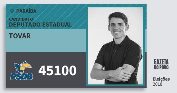 Santinho Tovar 45100 (PSDB) Deputado Estadual | Paraíba | Eleições 2018