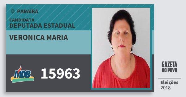 Santinho Veronica Maria 15963 (MDB) Deputada Estadual | Paraíba | Eleições 2018