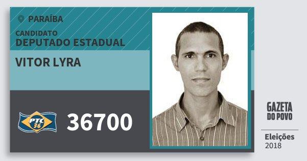 Santinho Vitor Lyra 36700 (PTC) Deputado Estadual | Paraíba | Eleições 2018