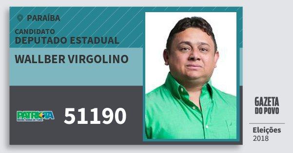 Santinho Wallber Virgolino 51190 (PATRI) Deputado Estadual | Paraíba | Eleições 2018