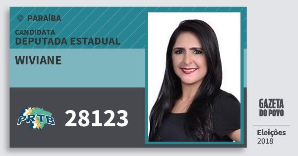 Santinho Wiviane 28123 (PRTB) Deputada Estadual | Paraíba | Eleições 2018