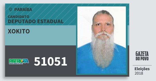 Santinho Xokito 51051 (PATRI) Deputado Estadual | Paraíba | Eleições 2018