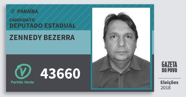Santinho Zennedy Bezerra 43660 (PV) Deputado Estadual | Paraíba | Eleições 2018