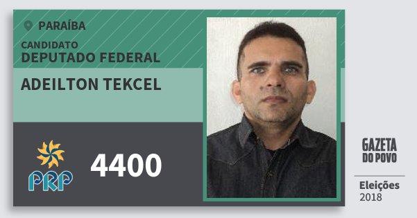 Santinho Adeilton Tekcel 4400 (PRP) Deputado Federal | Paraíba | Eleições 2018