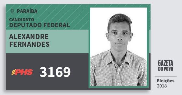 Santinho Alexandre Fernandes 3169 (PHS) Deputado Federal | Paraíba | Eleições 2018