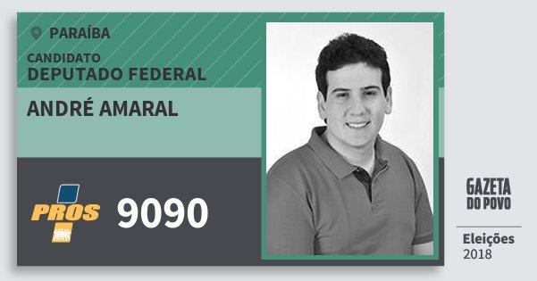 Santinho André Amaral 9090 (PROS) Deputado Federal | Paraíba | Eleições 2018