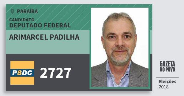Santinho Arimarcel Padilha 2727 (DC) Deputado Federal   Paraíba   Eleições 2018