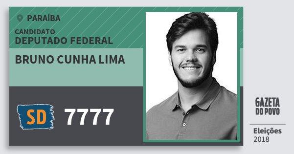 Santinho Bruno Cunha Lima 7777 (SOLIDARIEDADE) Deputado Federal | Paraíba | Eleições 2018