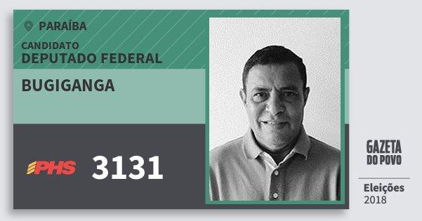 Santinho Bugiganga 3131 (PHS) Deputado Federal | Paraíba | Eleições 2018