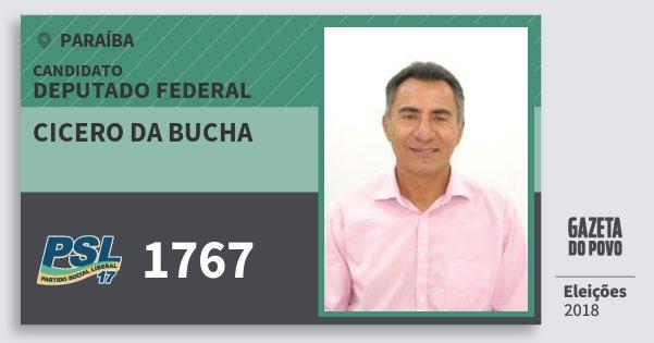 Santinho Cicero da Bucha 1767 (PSL) Deputado Federal | Paraíba | Eleições 2018
