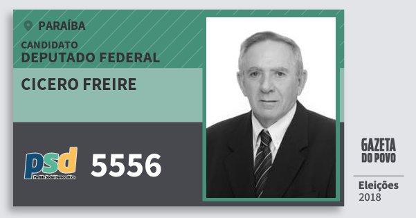 Santinho Cicero Freire 5556 (PSD) Deputado Federal | Paraíba | Eleições 2018