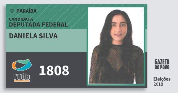 Santinho Daniela Silva 1808 (REDE) Deputada Federal | Paraíba | Eleições 2018
