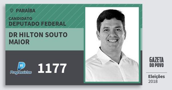 Santinho Dr Hilton Souto Maior 1177 (PP) Deputado Federal | Paraíba | Eleições 2018