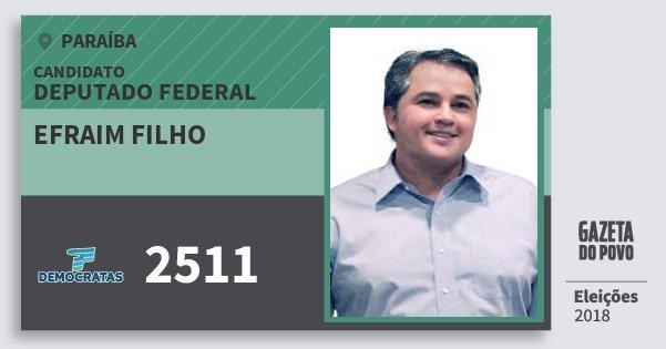 Santinho Efraim Filho 2511 (DEM) Deputado Federal | Paraíba | Eleições 2018