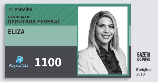 Santinho Eliza 1100 (PP) Deputada Federal | Paraíba | Eleições 2018