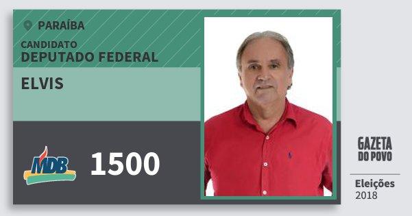 Santinho Elvis 1500 (MDB) Deputado Federal | Paraíba | Eleições 2018