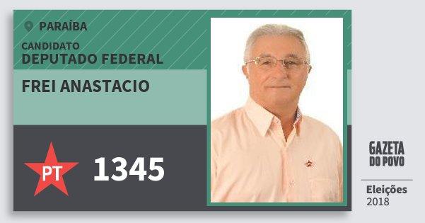 Santinho Frei Anastacio 1345 (PT) Deputado Federal | Paraíba | Eleições 2018