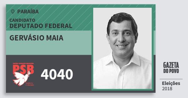 Santinho Gervásio Maia 4040 (PSB) Deputado Federal | Paraíba | Eleições 2018