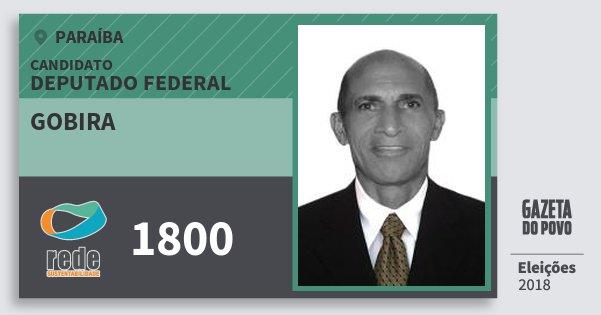 Santinho Gobira 1800 (REDE) Deputado Federal   Paraíba   Eleições 2018