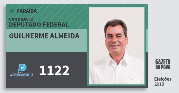 Santinho Guilherme Almeida 1122 (PP) Deputado Federal | Paraíba | Eleições 2018