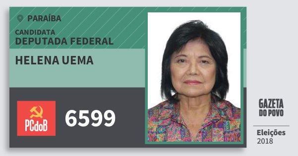 Santinho Helena Uema 6599 (PC do B) Deputada Federal | Paraíba | Eleições 2018