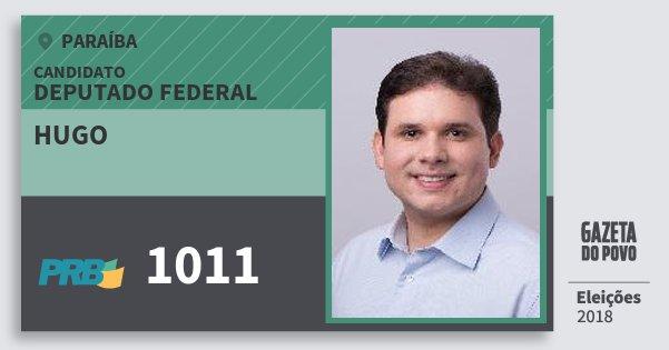 Santinho Hugo 1011 (PRB) Deputado Federal | Paraíba | Eleições 2018