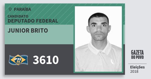 Santinho Junior Brito 3610 (PTC) Deputado Federal | Paraíba | Eleições 2018