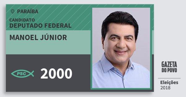 Santinho Manoel Júnior 2000 (PSC) Deputado Federal | Paraíba | Eleições 2018