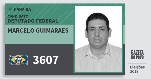 Santinho Marcelo Guimaraes 3607 (PTC) Deputado Federal | Paraíba | Eleições 2018