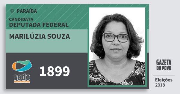Santinho Marilúzia Souza 1899 (REDE) Deputada Federal | Paraíba | Eleições 2018
