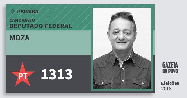 Santinho Moza 1313 (PT) Deputado Federal | Paraíba | Eleições 2018