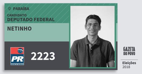 Santinho Netinho 2223 (PR) Deputado Federal | Paraíba | Eleições 2018