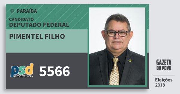 Santinho Pimentel Filho 5566 (PSD) Deputado Federal | Paraíba | Eleições 2018