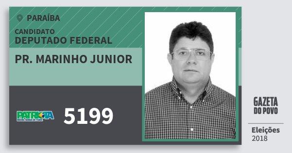 Santinho Pr. Marinho Junior 5199 (PATRI) Deputado Federal | Paraíba | Eleições 2018
